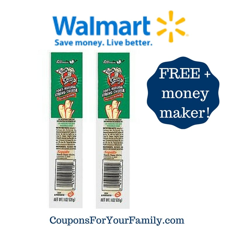 Walmart: FREE Frigo Cheese Heads Cheese Stick + Money Maker