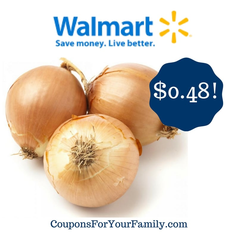 Walmart: 1 Pound of Onions Only $0.48