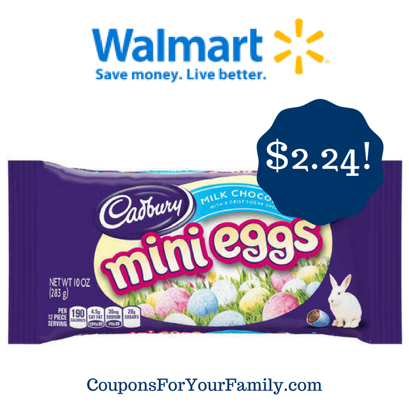 Walmart: Cadbury Mini Eggs Only $2.24