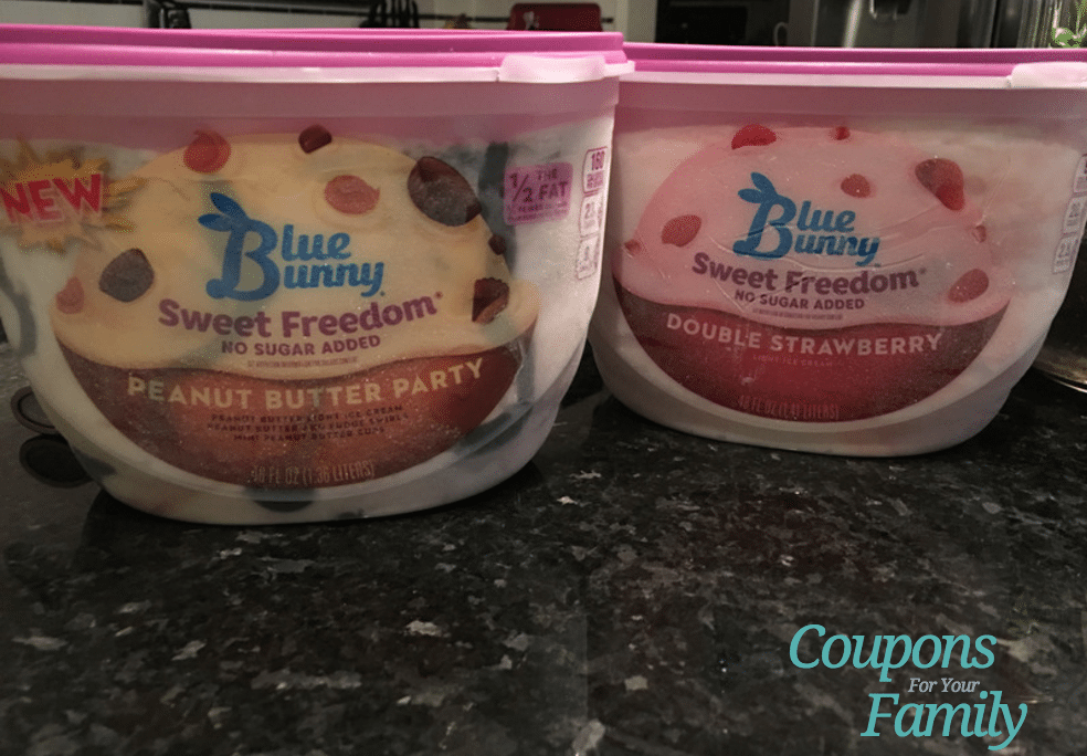 Printable coupon blue bunny ice cream