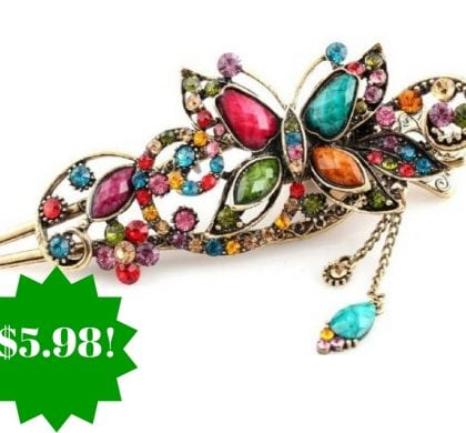 Amazon: Vintage Jewelry Crystal Butterfly Hairpin Only $5.98 Shipped