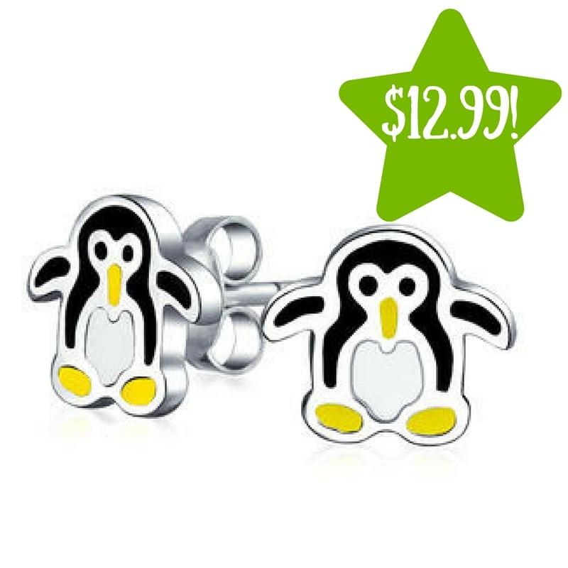 Kmart: Childrens Penguin Enamel Stud Earrings Only $12.99 (Reg. $28)