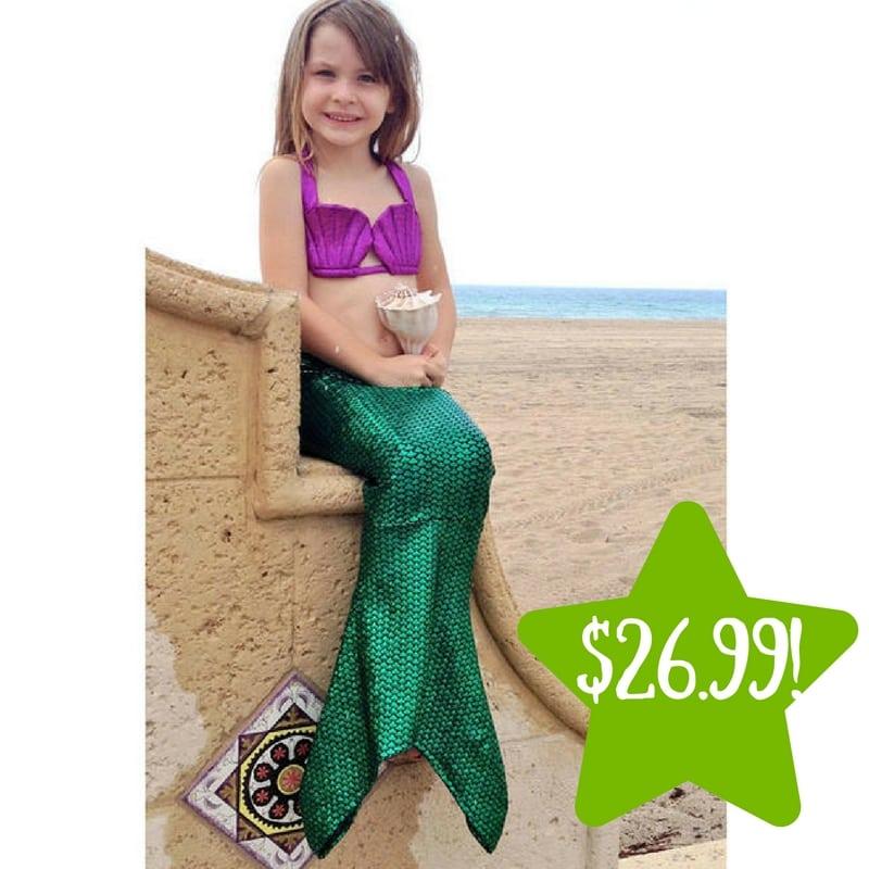 Kmart Kids Mermaid Swimsuit Only 2699 Reg 50