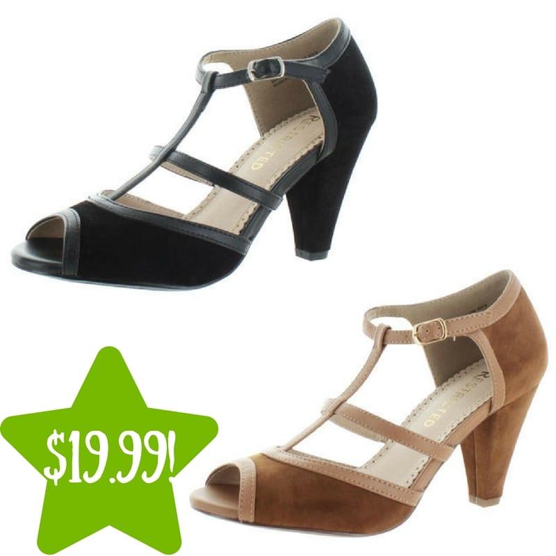 Sears: Restricted Doreen T-Strap Peep Toe Pump Only $19.99 (Reg. $65)