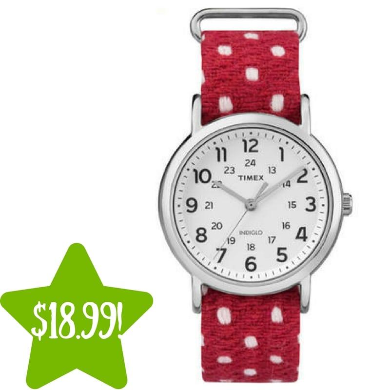 Sears: Timex Weekender Polka Dot Watch Only $18.99 (Reg. $50)