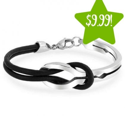 Sears: Infinity Stainless Steel Bangle Bracelet Only $9.99 (Reg. $32)