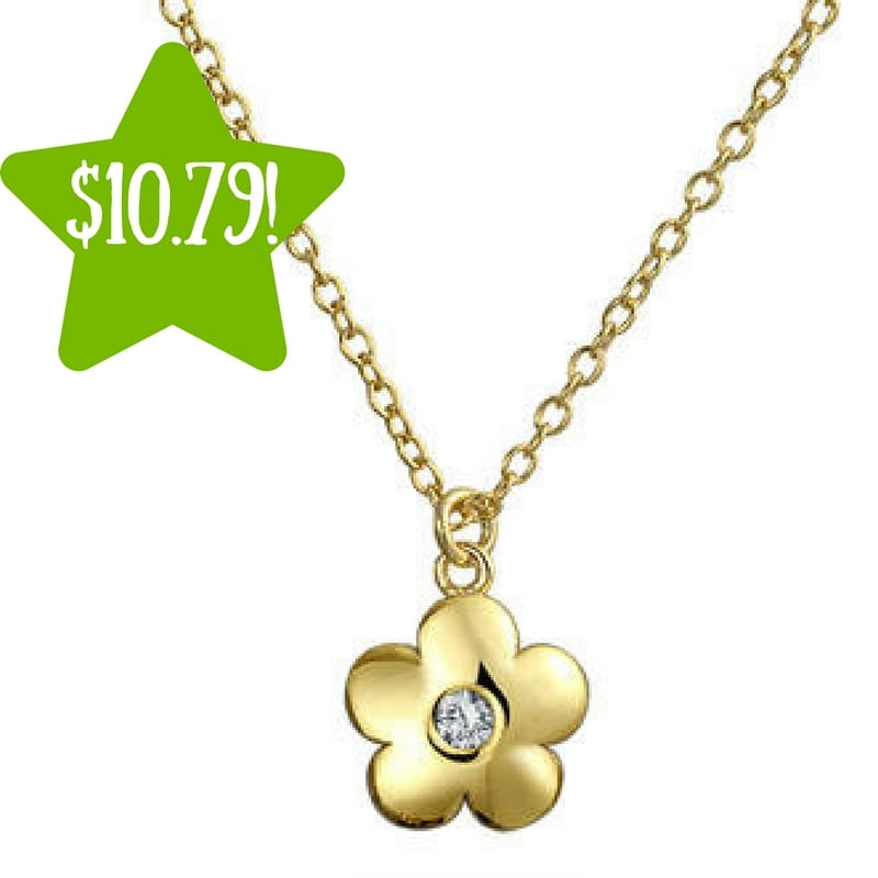 Sears bling jewelry gold plated flower necklace only 10 for Bling jewelry coupon code