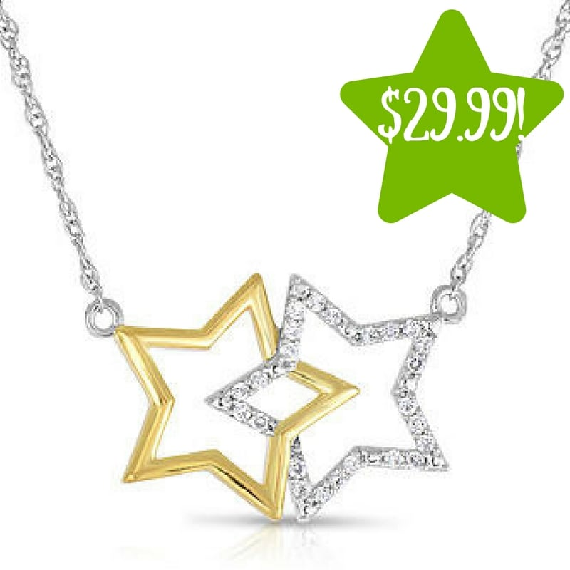 Sears: Sterling Silver 1/10 CTTW Diamond Pendant Only $29.99 (Reg. $150, Today Only)