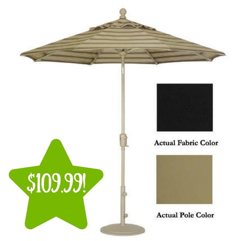 Sears: TREASURE GARDEN 9u2032 Crank Tilt Patio Umbrella Only $109.99 Shipped  (Reg.