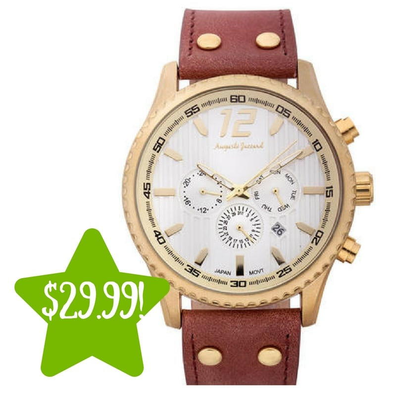 Sears: Auguste Jaccard Aftershock Men's Watch Only $29.99 (Reg. $424, Today Only)