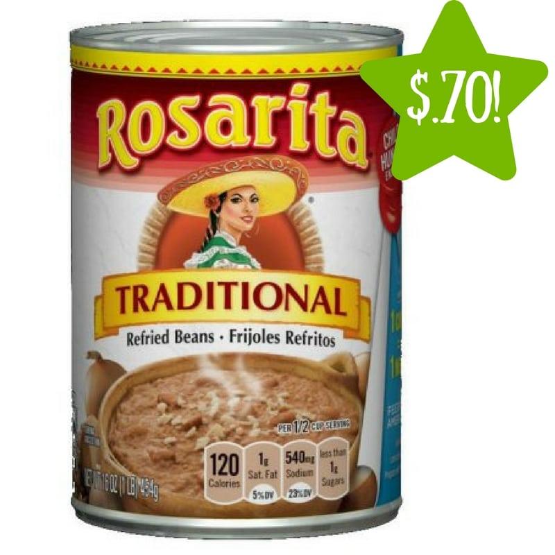 Dollar Tree: Rosarita Refried Beans Only $0.70