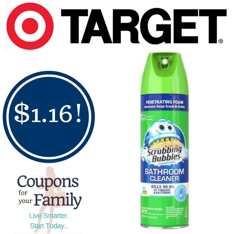 Target: Scrubbing Bubbles Bathroom Cleaner Only $1.16
