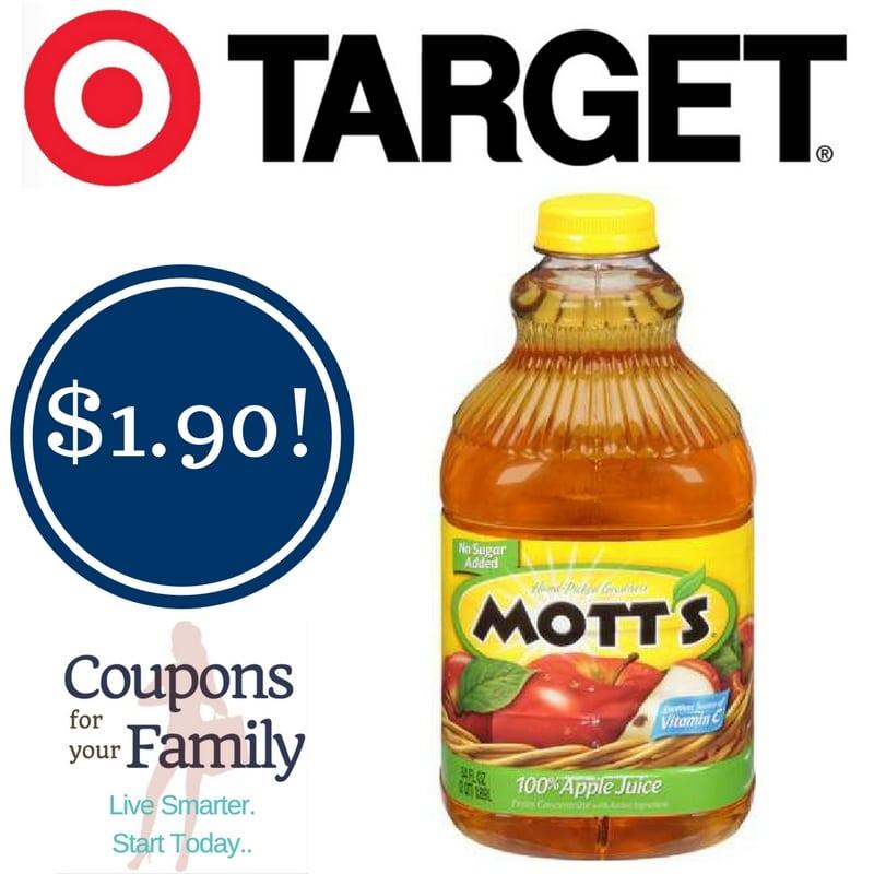 Target: Mott's Apple Juice Only $1.90