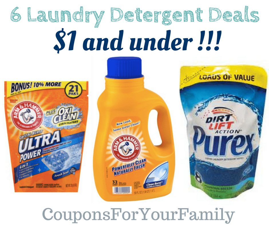 6 Laundry Detergent Deals under $1 – stockup now!!