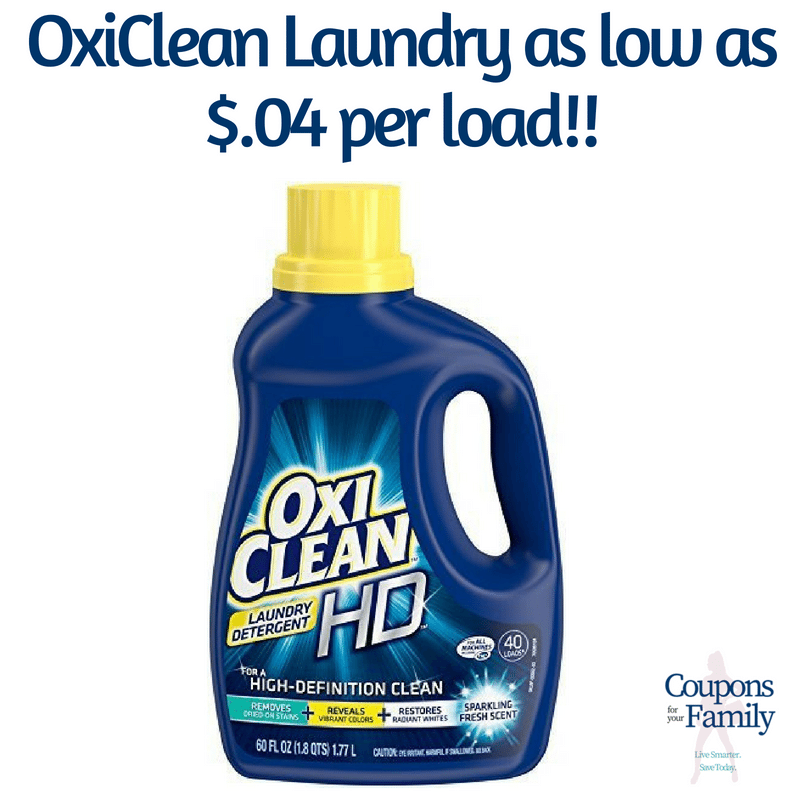 Best Stores to use the new $3/1 OxiClean coupon – As low as $.04 per load!