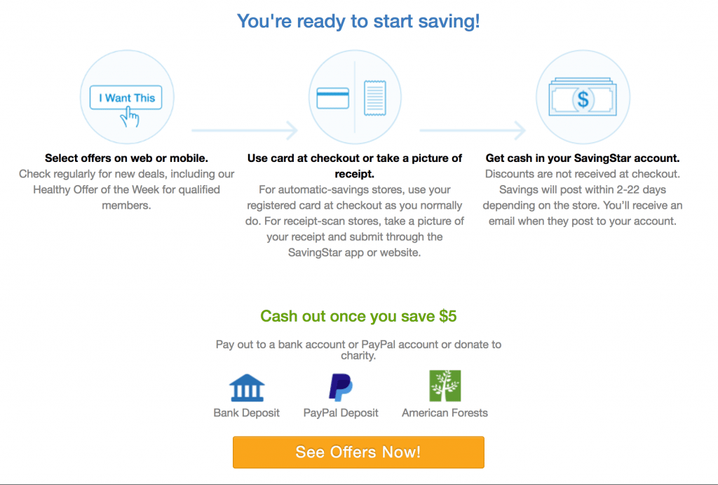 Savingstar Cash Back App