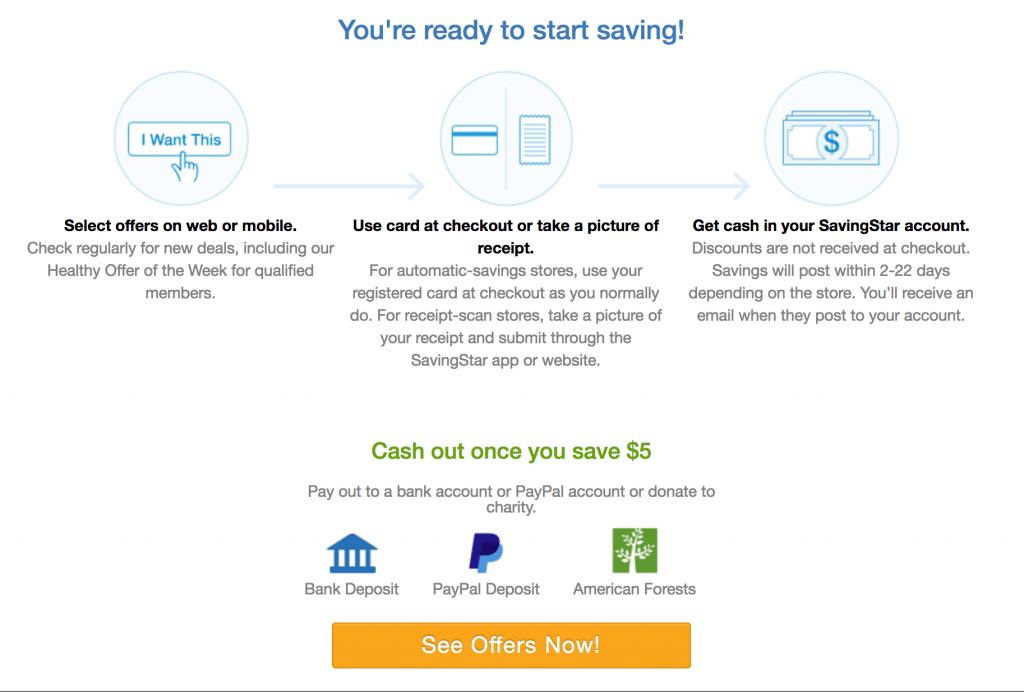 Savingstar Cash Back App