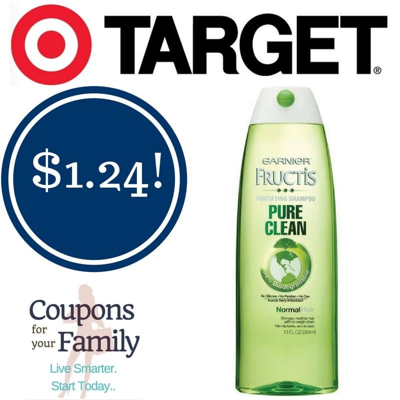 Target: Garnier Fructis Pure Clean Shampoo Only $1.24