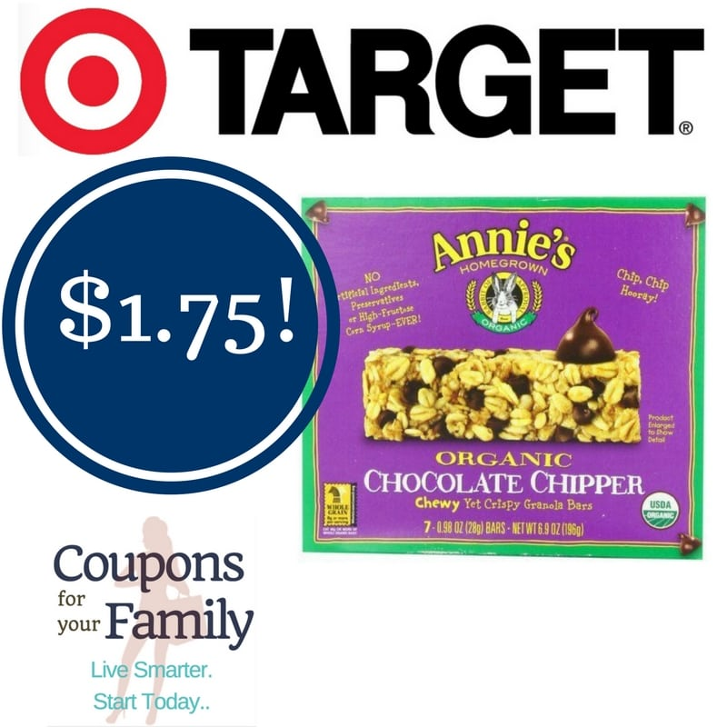 Target: Annie's Chewy Granola Bars Only $1.75