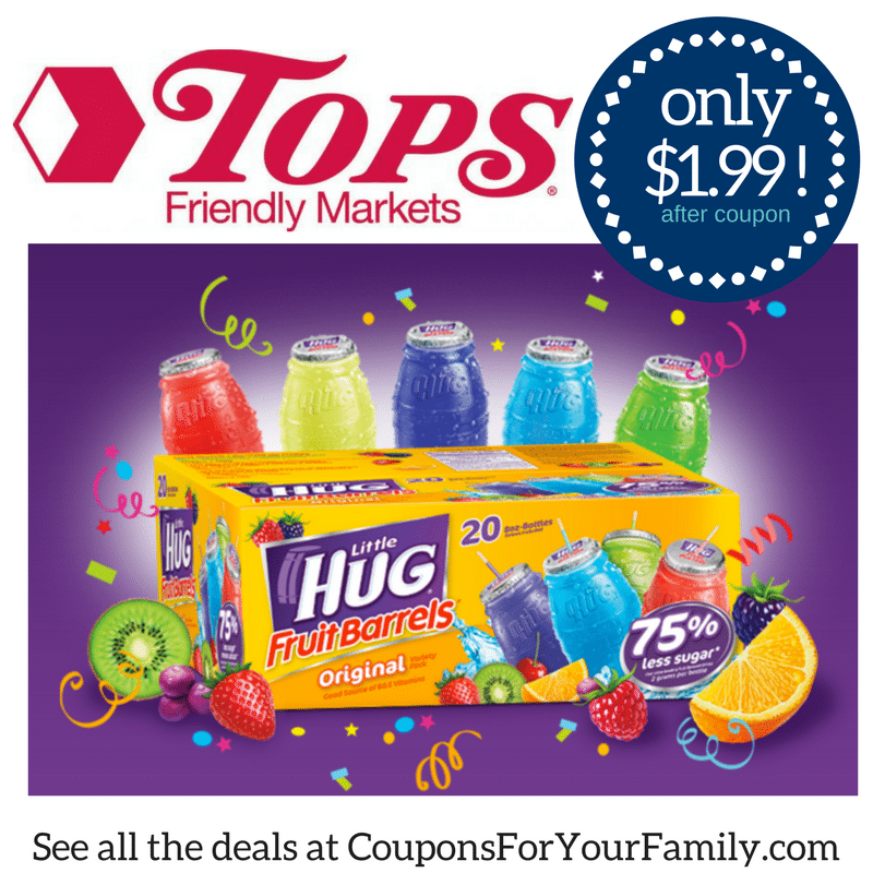 RARE Little Hug Coupon makes for ony $1.99 for 20 ct case at Tops!