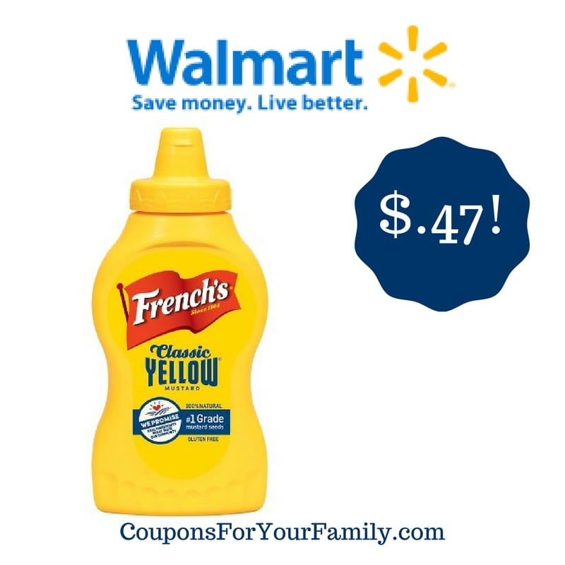 Walmart: French's Yellow Mustard Only $0.47
