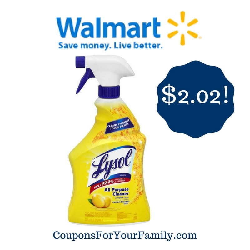 Walmart: Lysol All Purpose Cleaner Only $2.02