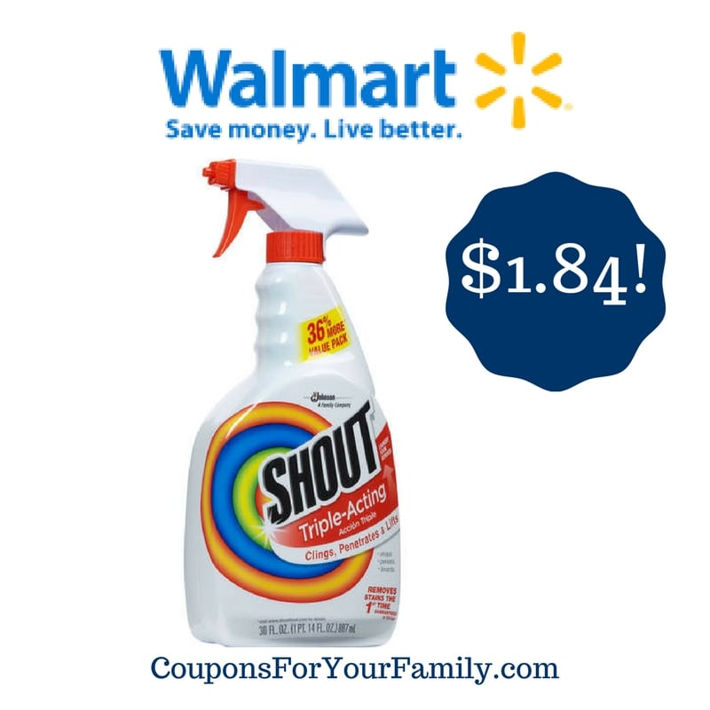 Walmart: Shout Triple-Acting Stain Remover Only $1.84