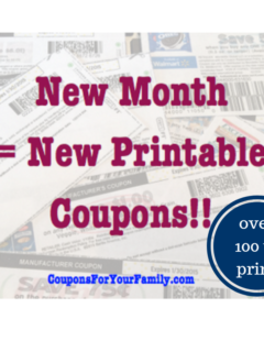 monthly printable coupons