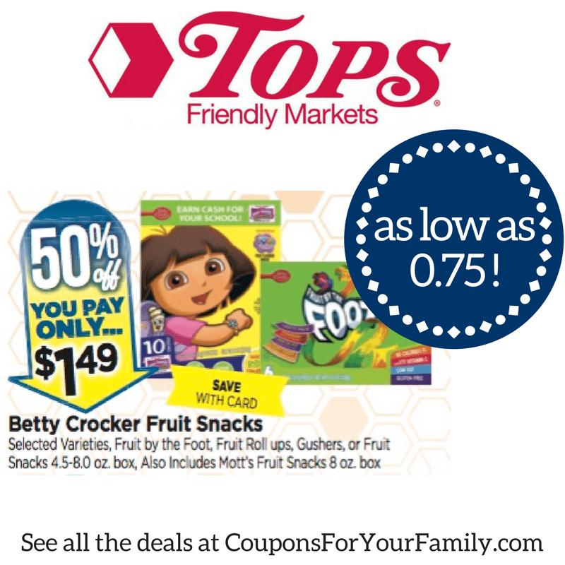 topsmarkets betty crocker fruit snacks