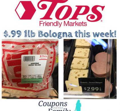 **RARE** Wunderbar Bologna Coupon–Get $.99lb Bologna at Tops this week!