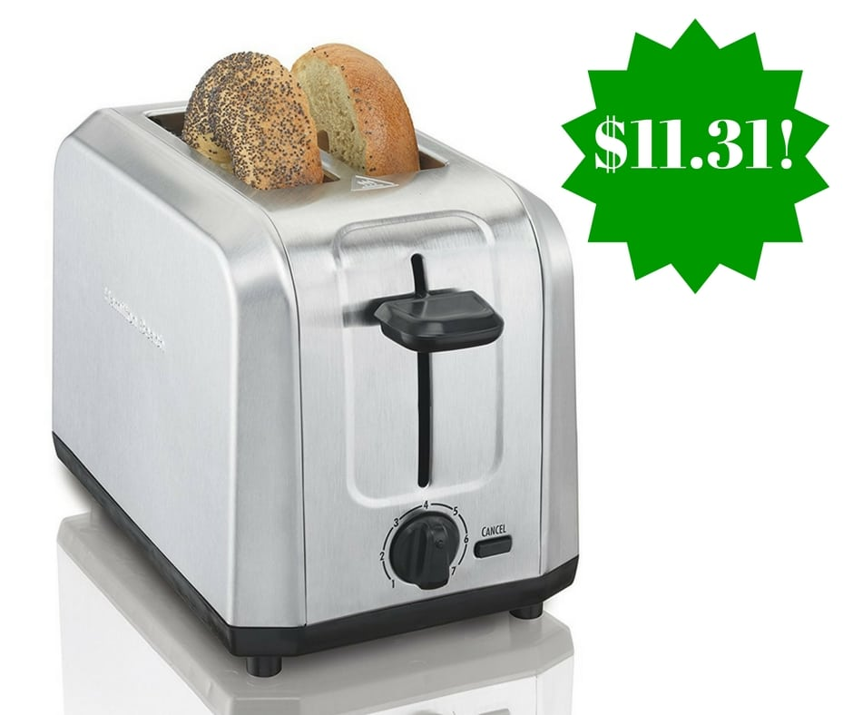 Amazon: Hamilton Beach Stainless Steel 2-Slice Toaster Only $11.31 (Reg. $25)