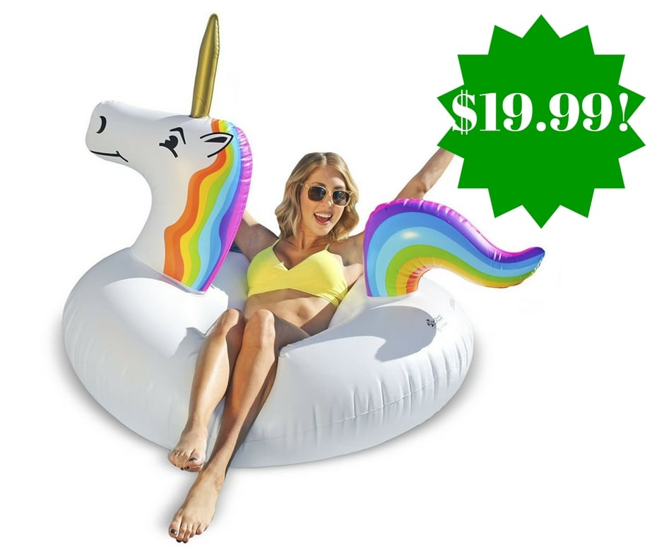 Amazon: GoFloats Unicorn Inflatable Raft Only $19.99 (Reg. $40)