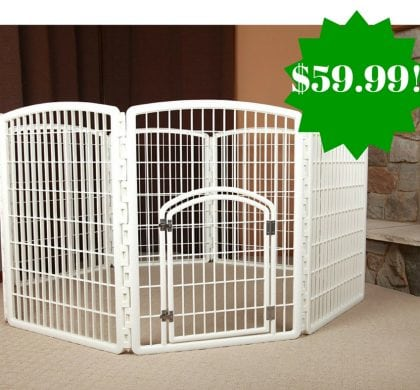 Amazon: IRIS 34″ Pet Playpen with Door Only $59.99 Shipped (Reg. $130)