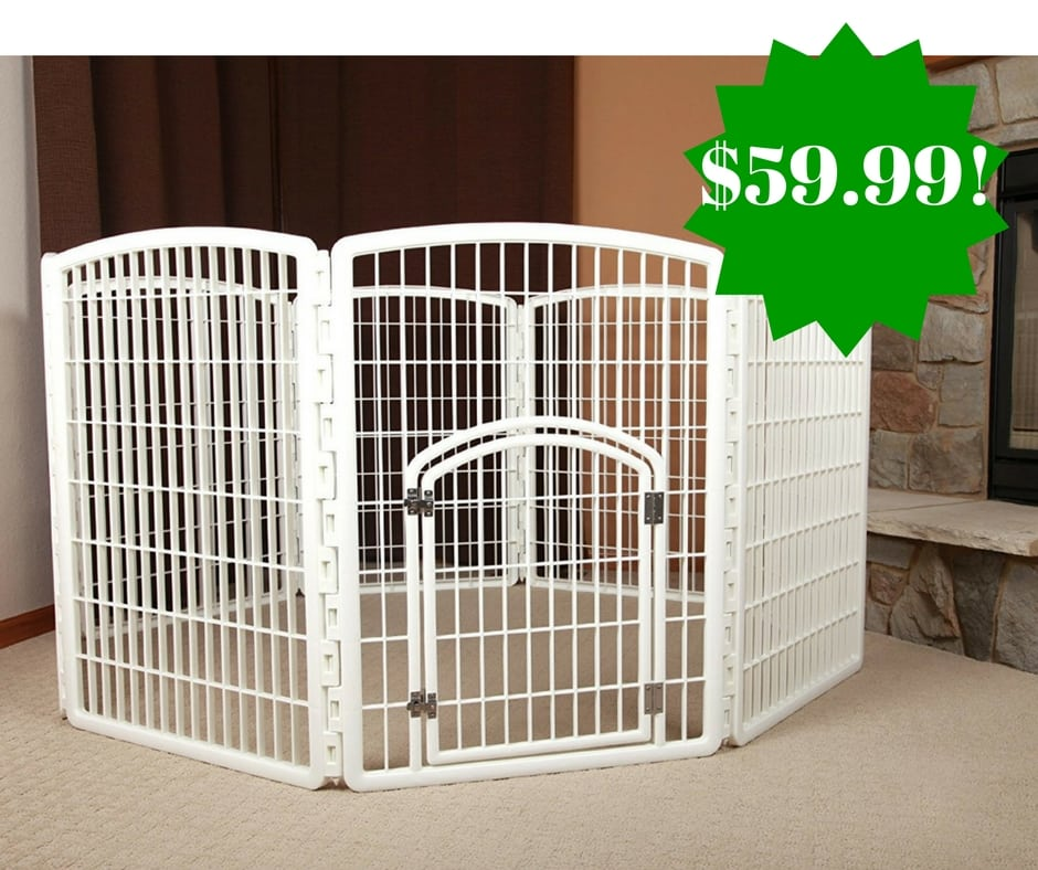 Amazon: IRIS 34″ Pet Playpen with Door Only $59.99 Shipped (Reg. $130)