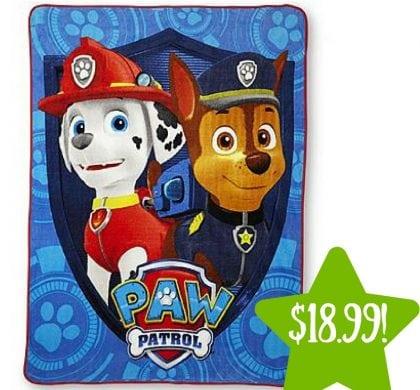 Kmart: Nickelodeon PAW Patrol Microfleece Throw Only $18.99