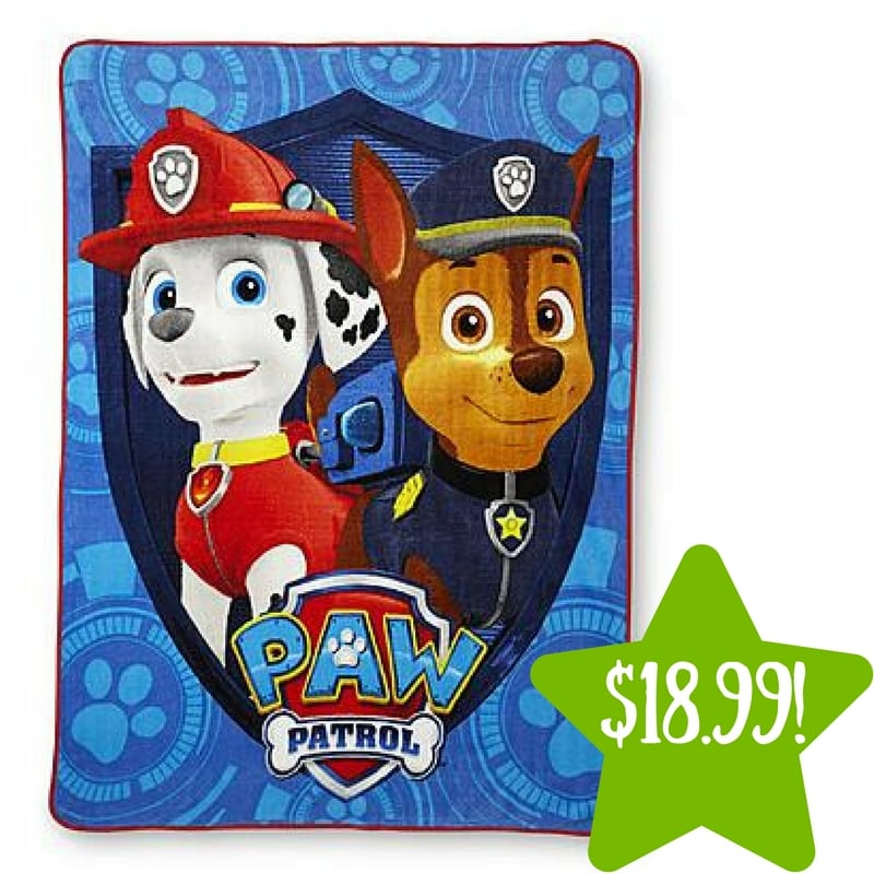 Kmart: Nickelodeon PAW Patrol Microfleece Throw Only $18.99