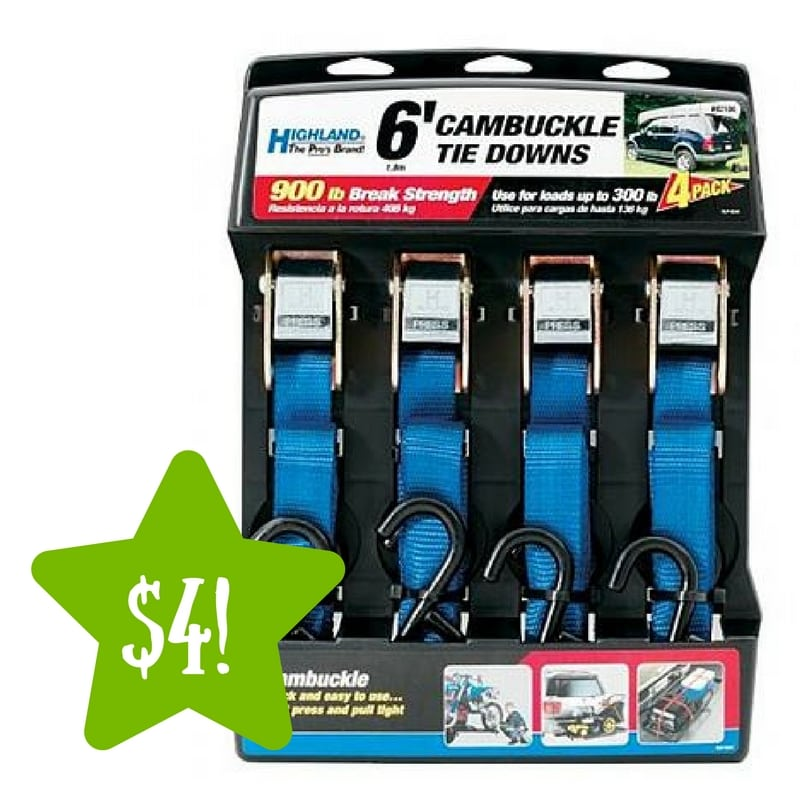 Kmart: Highland Cambuckle Tie-Downs Only $4 (Reg. $17)