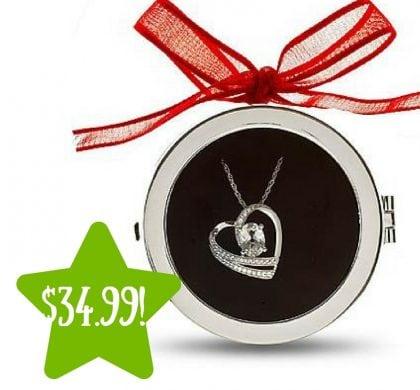 Kmart: Sterling Silver White Sapphire Heart Pendant Only $34.99 (Reg. $150)