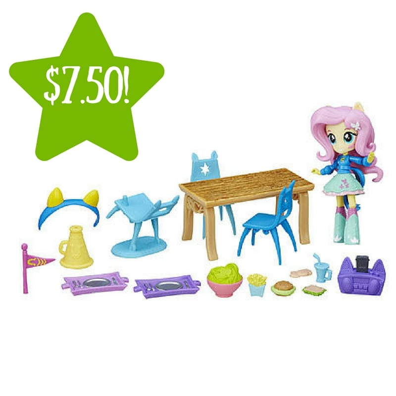 Kmart: My Little Pony Equestria Girls Minis Fluttershy School Cafeteria Set Only $7.50 (Reg. $15, Today Only)