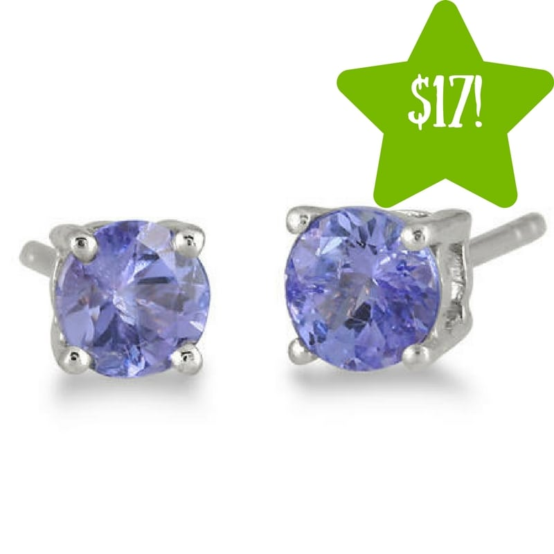 Sears: All Natural 5mm Tanzanite Stud Earrings Only $17 (Reg. $199)