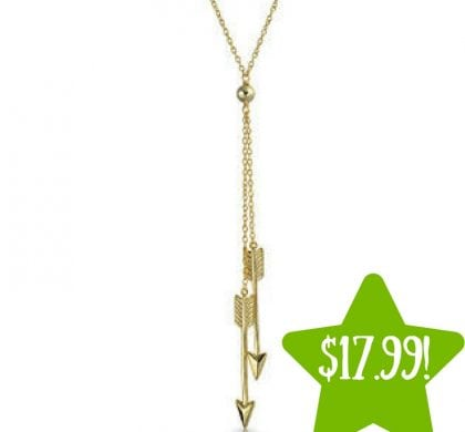 Sears: Gold Plated Silver Double Arrow Necklace Only $17.99 (Reg. $48)
