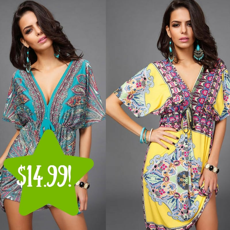 Sears: Casual Boho Summer Dress Only $14.99 (Reg. $40)