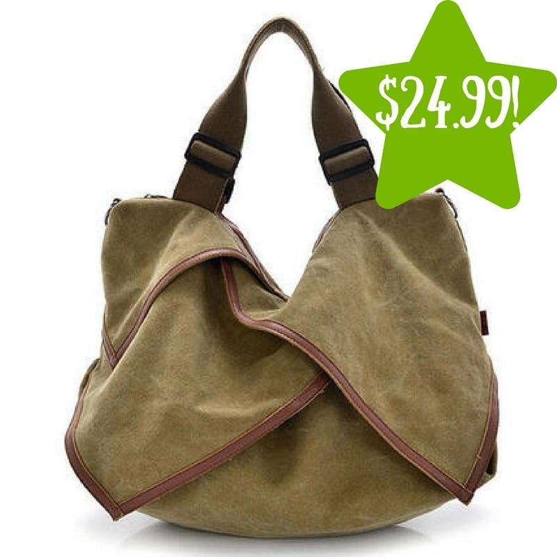 Sears: Alphabetdeal XIX Canvas Shoulder Bag Only $24.99 (Reg. $70)