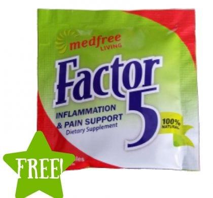 FREE Medfree Living Factor 5 Sample