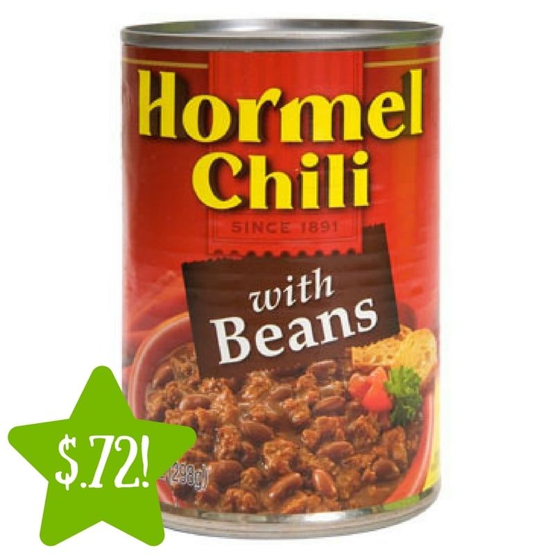 Dollar Tree: Hormel Chili with Beans Only $0.72