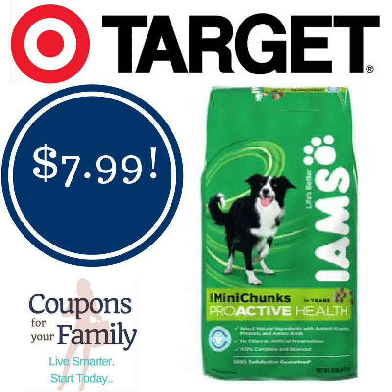 Target: Iams Mini Chunks Dog Food Only $7.99