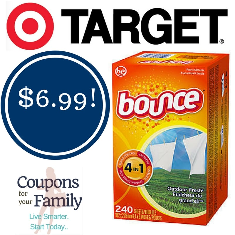 Target: Bounce Dryer Sheets Only $6.99