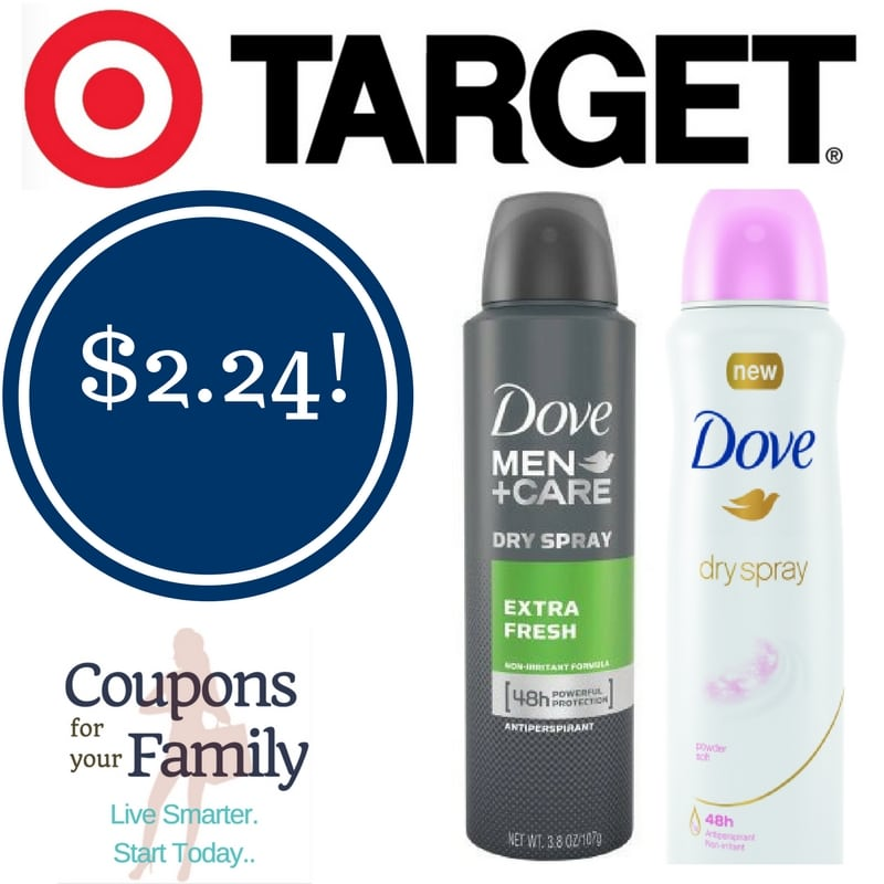 Target: Dove Dry Spray Deodorant Only $2.24