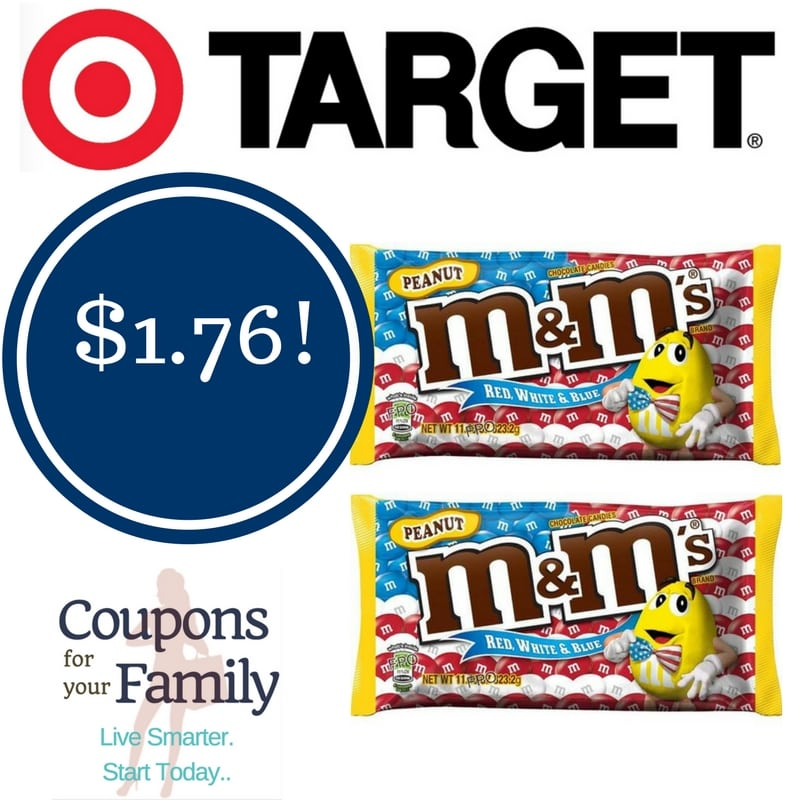 Target: M&M's Red, White & Blue Peanut Butter Candy Only $1.76