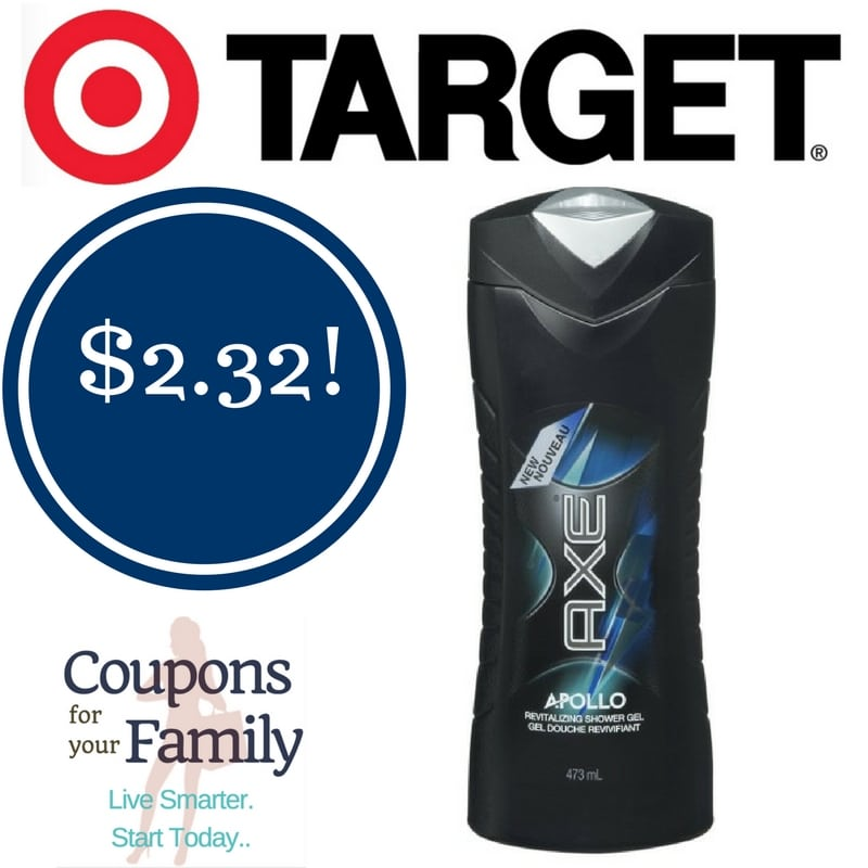 Target: AXE Apollo Shower Gel Only $2.32